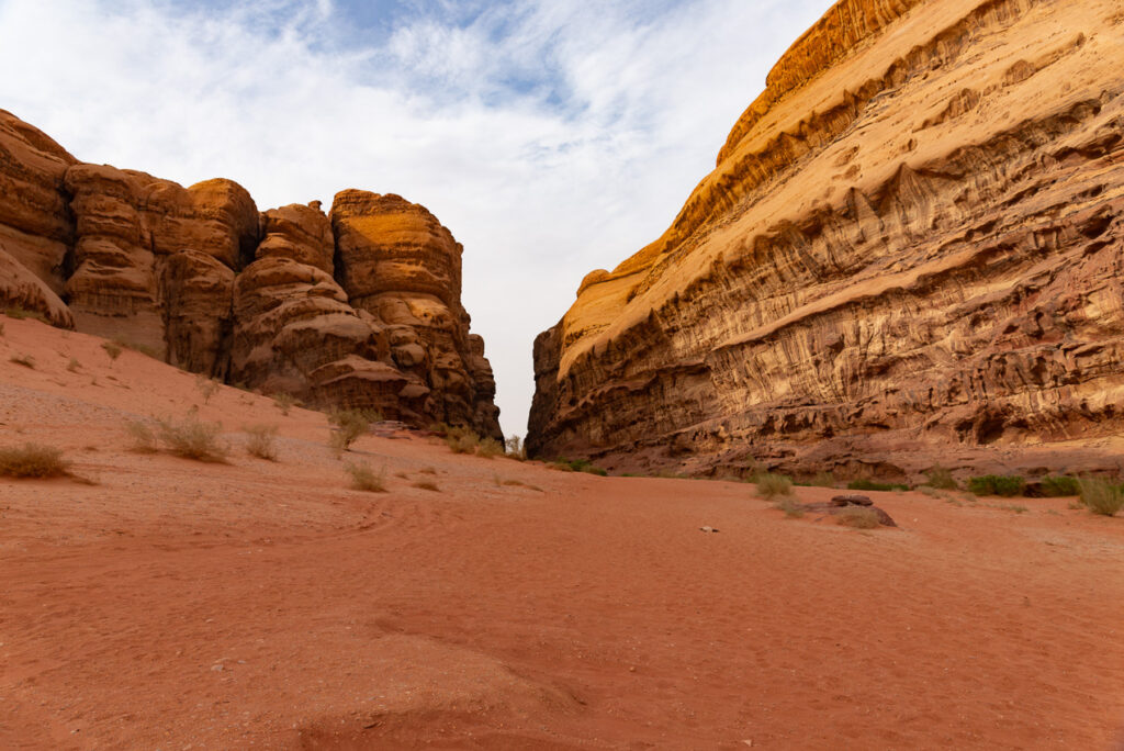 Jagged Mountains in the Wadi Rum