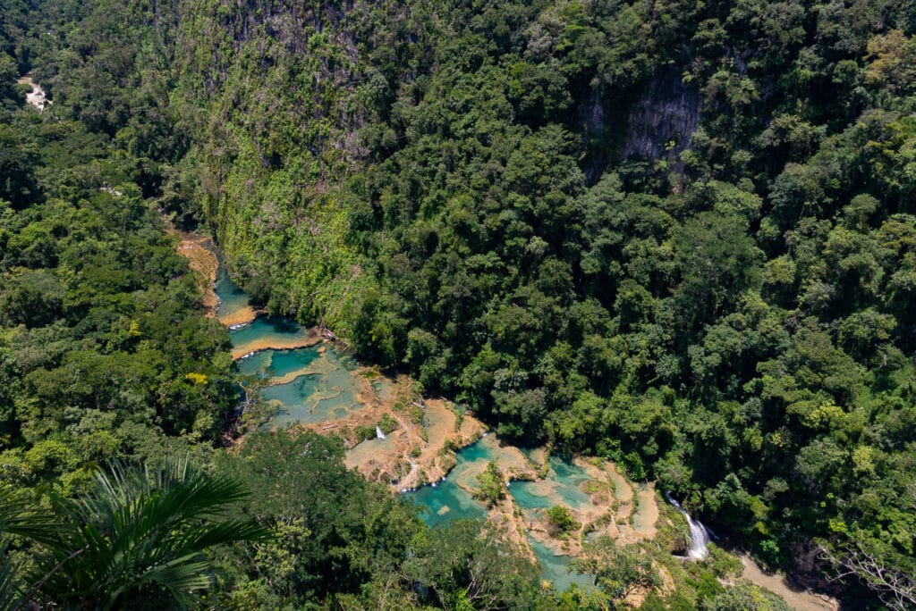 Panoramic View of Semuc Champey from the Mirador
