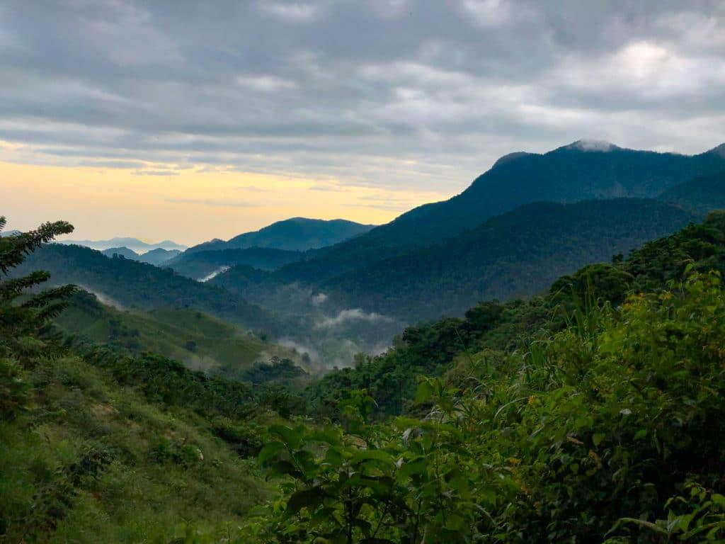 Sunrise Over the Jungle during the Trek to Ciudad Perdida