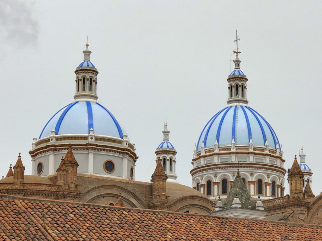 Cathedral of the Immaculate Conception in Cuenca Ecuador