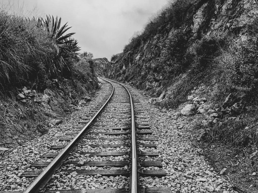 Devil Nose Train Tracks in Alausi Ecuador