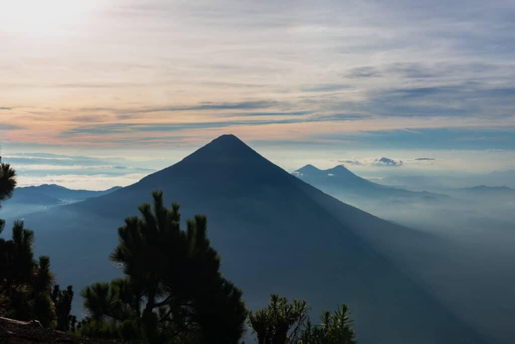 Sunrise while Climbing Acatenango