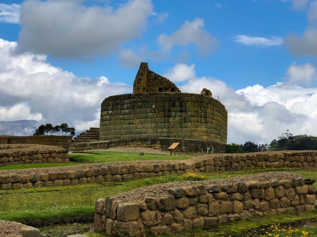 Temple of the Sun at Ingapirca in Ecuador
