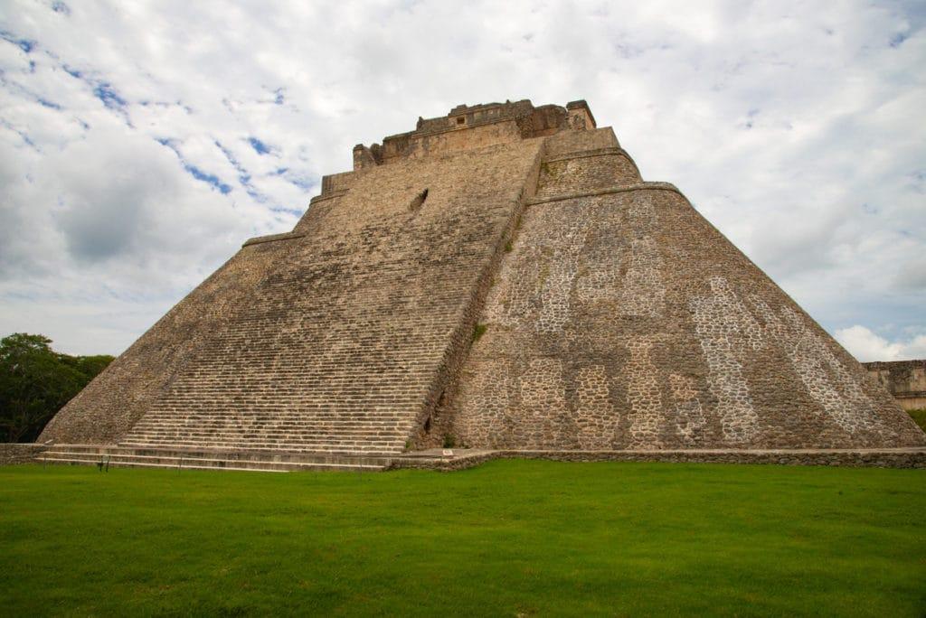 Main Pyramid in Uxmal ruins in Mexico