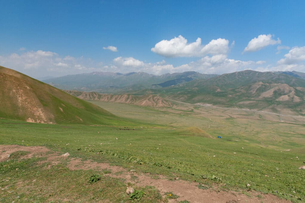 View-of-the-highway-where-Jen-began-the-hike-to-Song-Kol-Kyrgyzstan
