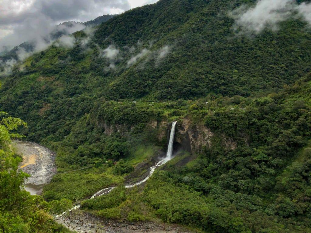 Waterfall Route in Banos Ecuador
