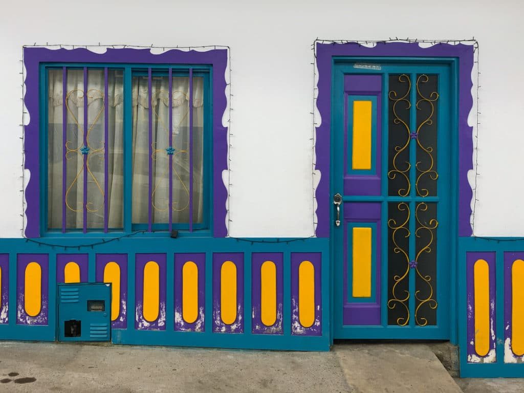 Beautifully Colored Door and Window in Salento Colombia