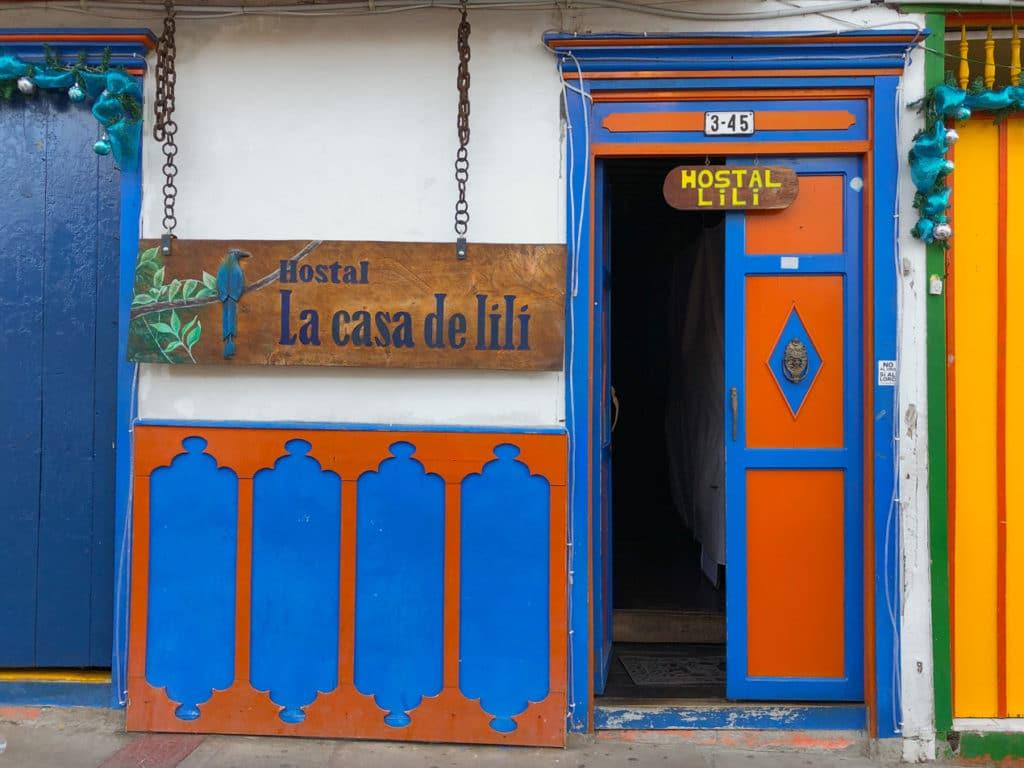 Front View of La Casa de Lili Hostel in Salento Colombia