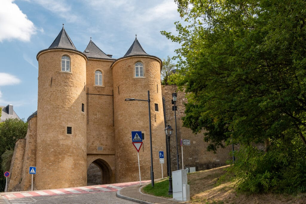 Three Towers in Luxembourg City