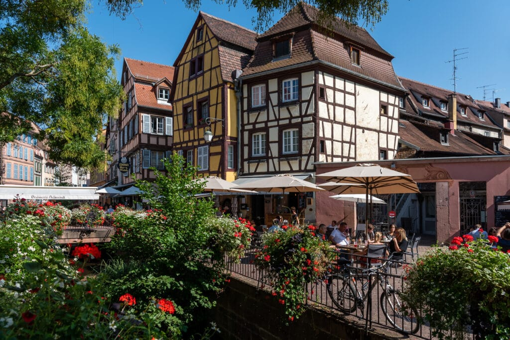 Main Square in Colmar while exploring Alsace A