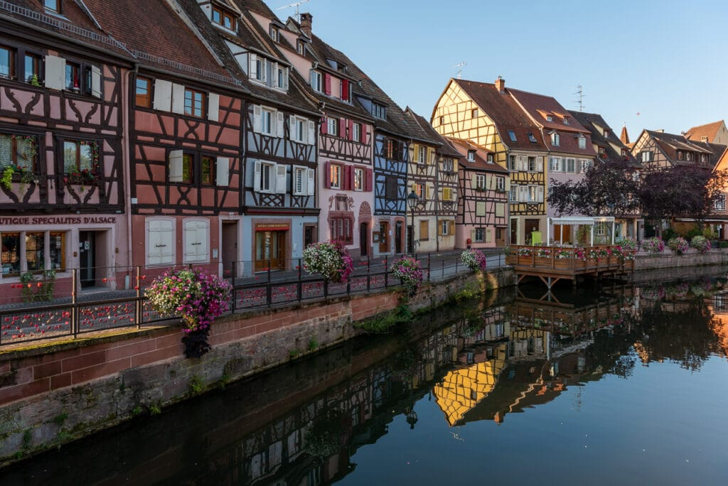 Most Beautiful Street in Colmar while exploring Alsace