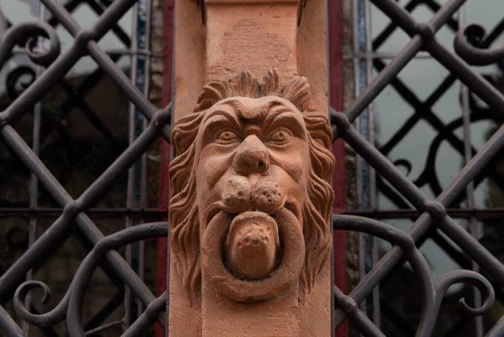 One of the Heads found on La Maison des Tete in Colmar while exploring Alsace