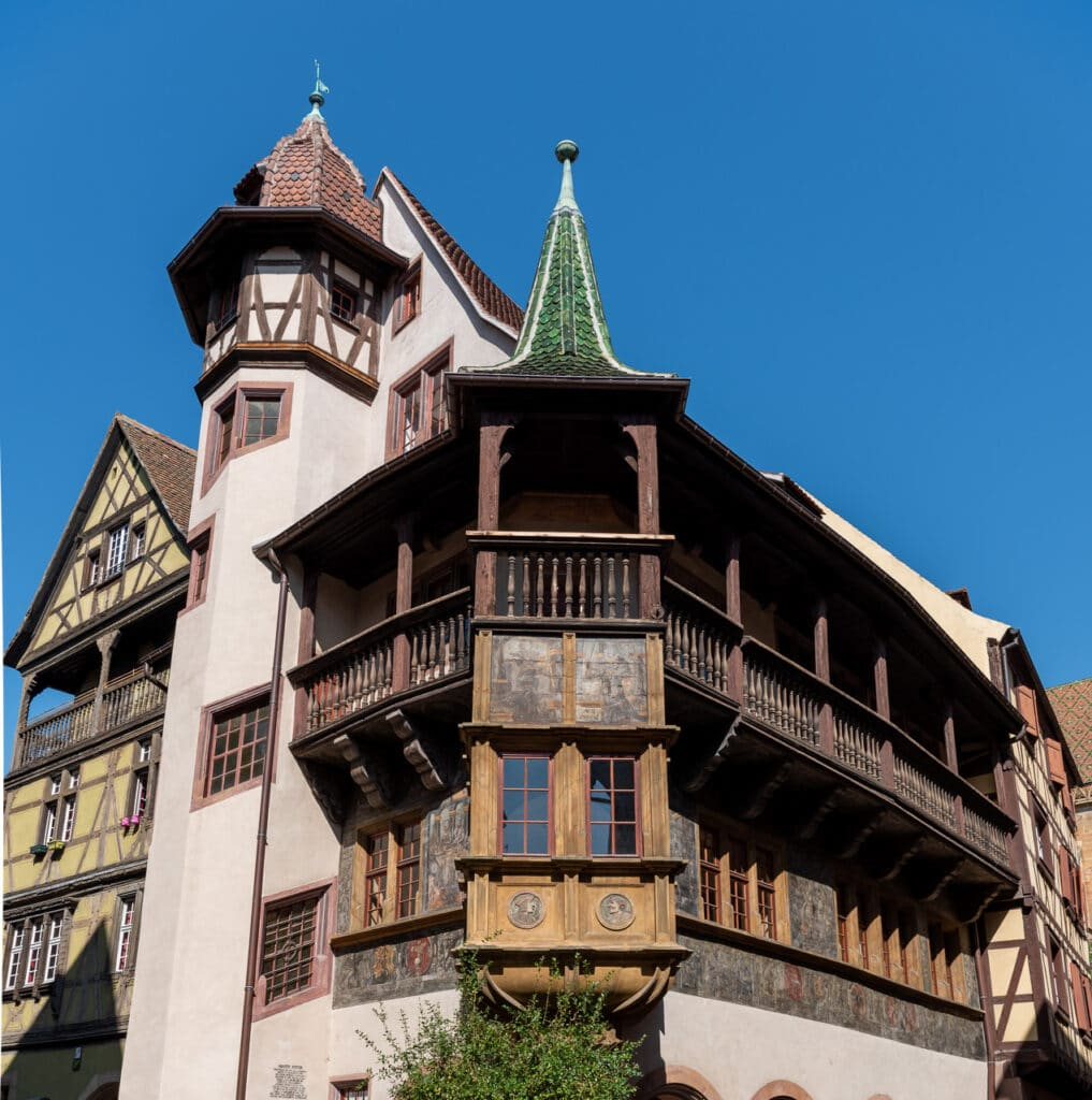 View of Pfister house in Colmar