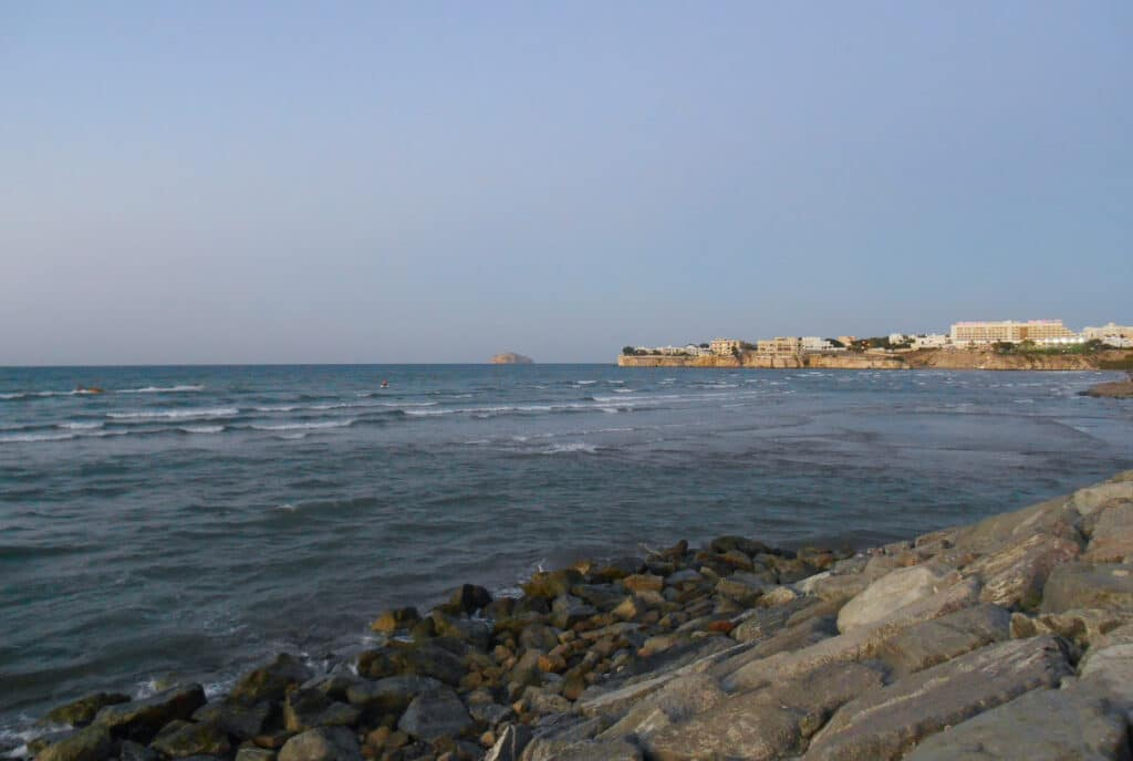 Panoramic View of the Coastline in Muscat Oman