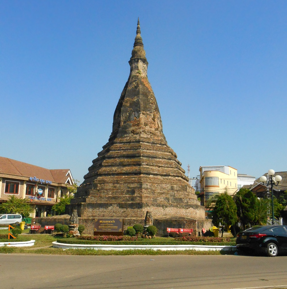 That-Dam-Black-Stupa-in-Vientiane-while-spending-2 weeks-in-Laos