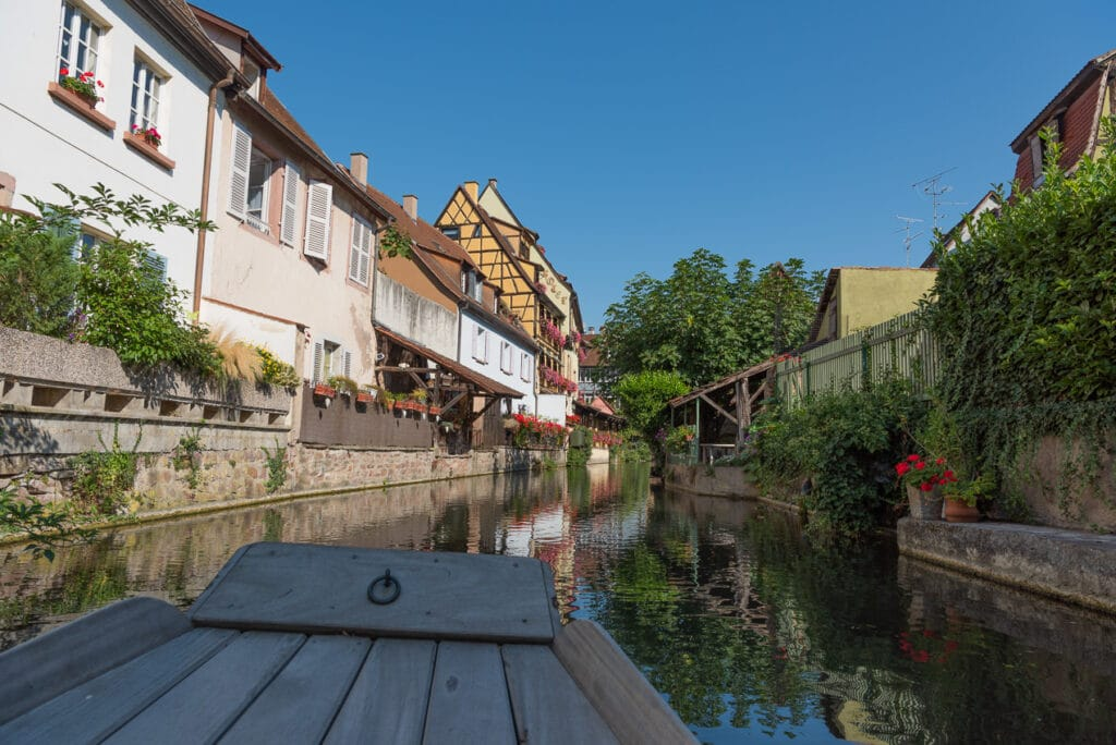 Visiting Little Venice by Boat while in Colmar France