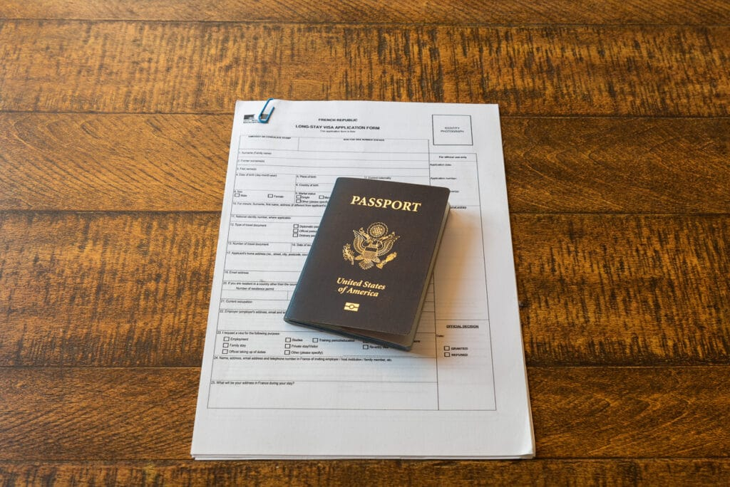 There is a lot of paperwork when applying for a long-stay visa