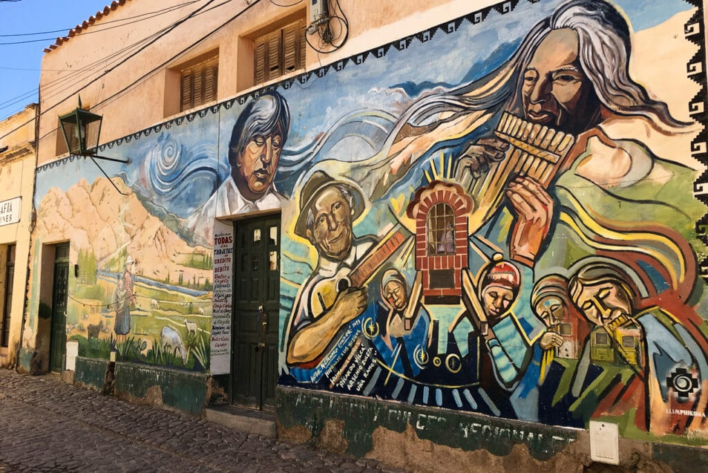 Mural in Humahuaca Showcasing the History and Culture of Northern Argentina