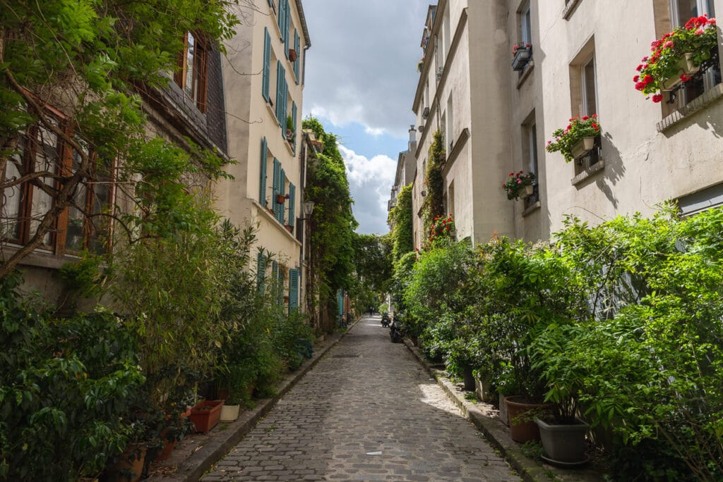Beautiful Hanging Gardens on Rue des Thermopyles in Paris