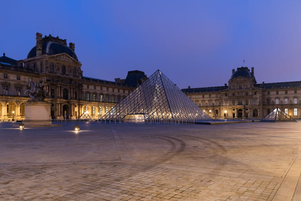 Entrance to the Louvre Museum