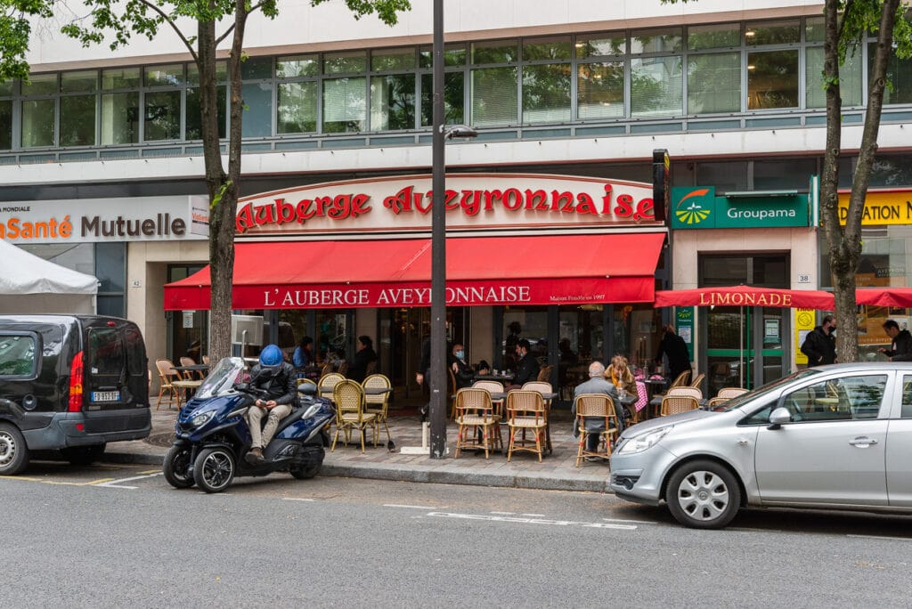 The Terrace of Auberge Aveyronnaise in Paris