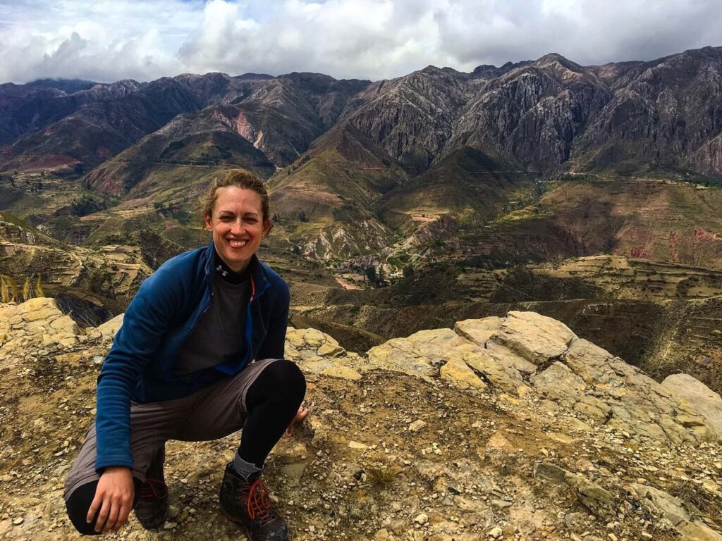 Jen Ciesielski the author of Dabbling in Jet Lag is on a Hiking Adventure in Bolivia
