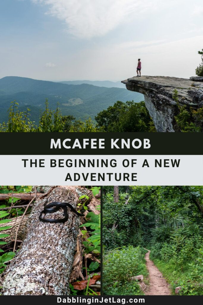 Hiking to McAfee Knob and The Beginning of a New Adventure Pinterest A