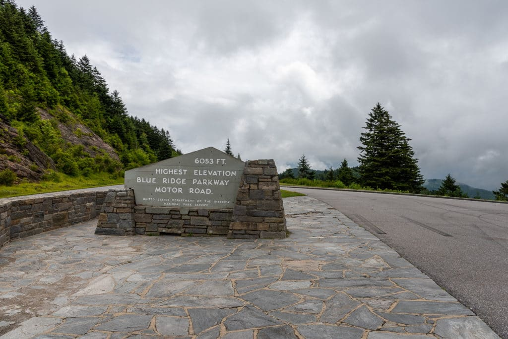 The Highest Elevation on the Blue Ridge Parkway-The Richland Balsam Overlook