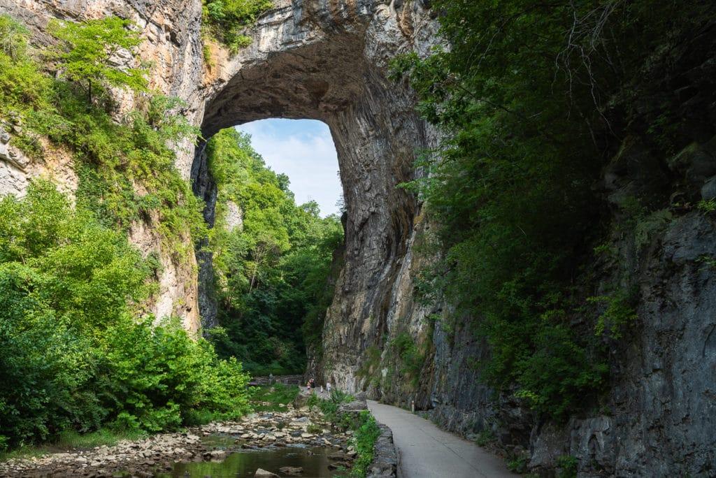 The Natural Bridge in Virginia USA